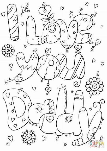 Coloring Daddy Dad Pages Mom Printable Adults