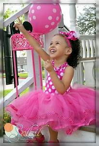 Minnie Mouse Themed Tutu Dress In Pink Polka Dots por ...