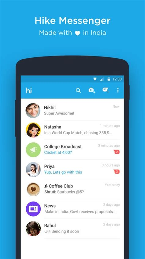 messenger for android hike messenger for android update adds calls ios