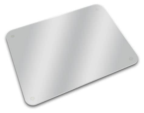 bureau plaque de verre planche à découper dessous de plat plateau 40 x 30 cm