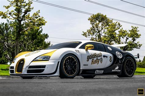 """Bugatti displayed a concept car called the eb 18/4 veyron which outlined the basic shape for future versions. goldRush Rally 7 Bugatti Veyron SS """"Panda"""" Stuns in New ..."""