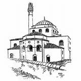 Mosque Coloring Hagia Sophia Drawing Pages Tower London Pagoda Chinese Drawings Buildings Architecture Printable Getdrawings Masjid sketch template