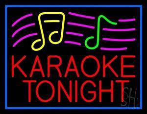 Red Karaoke Night Block 1 Neon Sign