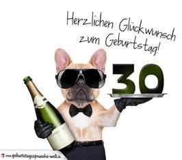 sprüche zum 30 geburtstag glückwunschkarte mit hund zum 30 geburtstag geburtstagssprüche welt