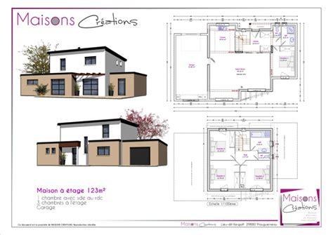 plan de maison plain pied gratuit 3 chambres plan maison 110 m2 etage