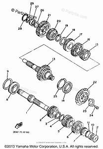 Yamaha Motorcycle 1986 Oem Parts Diagram For Transmission