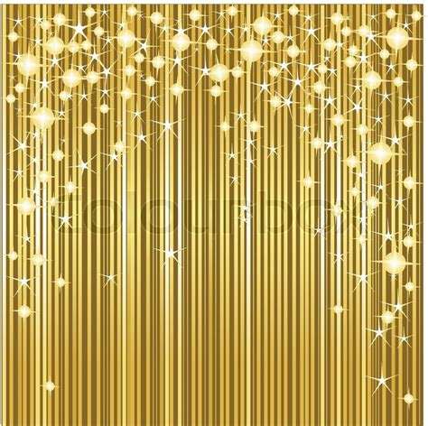 Light Pink Curtain by Gold Christmas Background With Stars And Stripes Vector
