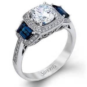vintage sapphire wedding bands nagi bridal simon g vintage cushion halo sapphire engagement ring mr2247