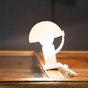 Lampe Pince Lit : lampe champignon pince blanche sarlam ~ Teatrodelosmanantiales.com Idées de Décoration