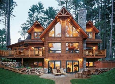 extravagant log house designs   leave  speechless