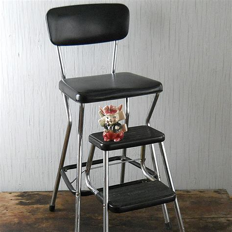 chair with step stool vintage cosco step stool chair by lisabretrostyle2 on etsy