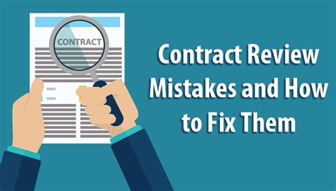 How to Prevent Legal Contract Review Mistakes? - Legal ...