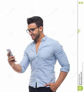 Handsome Business Man, Businessman Using Cell Smart Phone ...