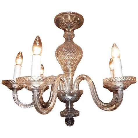 waterford style six light chandelier for sale at 1stdibs