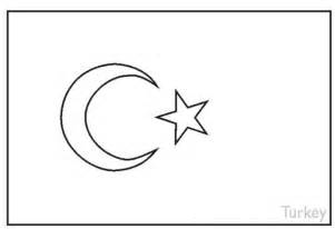 Turkey Flag - Free Coloring Pages
