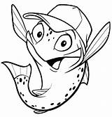 Trout Cartoon Drawings Mike Outline Drawing Fish Coloring Pages Miketrout Getdrawings Own sketch template