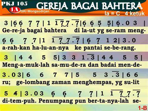 not angka lagu persahabatan bagai kepompong pkj 105 gereja bagai bahtera kidungonline com