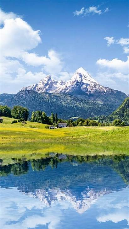 Iphone Summer Mountain Landscape Lake Wallpapers Reflection