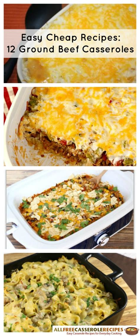 cheap casserole recipes easy cheap recipes 12 ground beef casseroles cheap eats and thrifty crafts