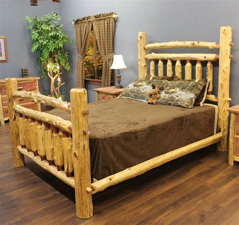 30980 log furniture place modernist 10 best images about cedar bed frames on log