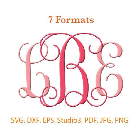 The file can be cut using a silhouette cameo, cricut. Interlocking Monogram Font SVG ( Studio 3 / dfx / eps ...