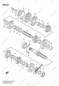 Suzuki Motorcycle 2007 Oem Parts Diagram For Transmission