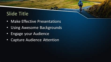 outdoor cycling powerpoint template  powerpoint
