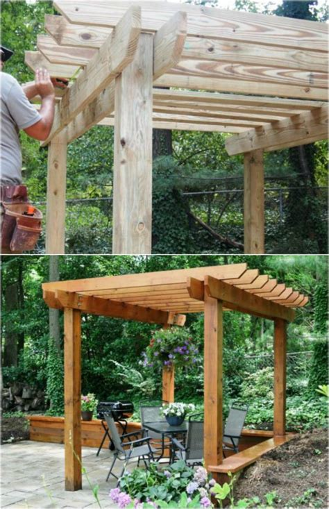 Einfache Pergola Bauen by 20 Diy Pergolas With Free Plans That You Can Make This