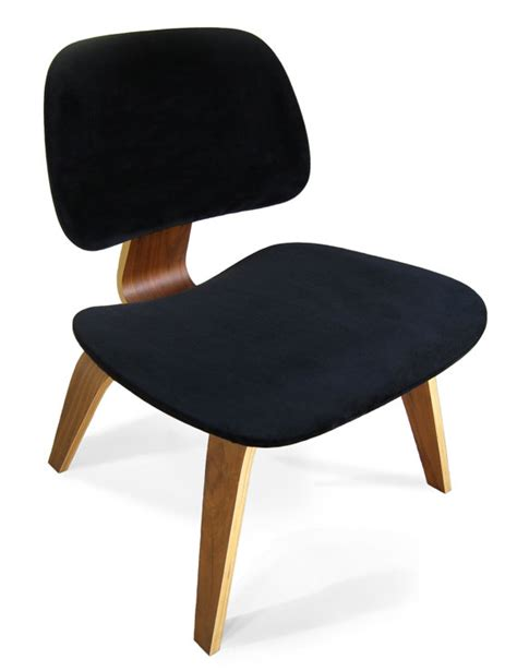 black seat cover for eames plywood lounge chair
