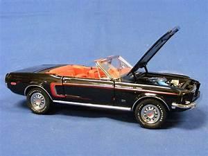 Buffalo Road Imports. 1968 Ford Mustang GT Convertible - Black CAR CONVERTIBLE Diecast model ...