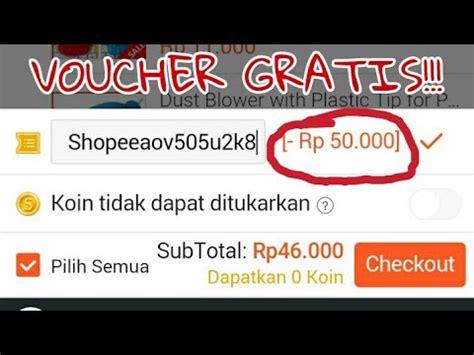 mendapatkan voucher shopee  gratis  aov
