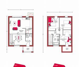 plan maison etage 90m2 With plan de maison a etage 5 chambres