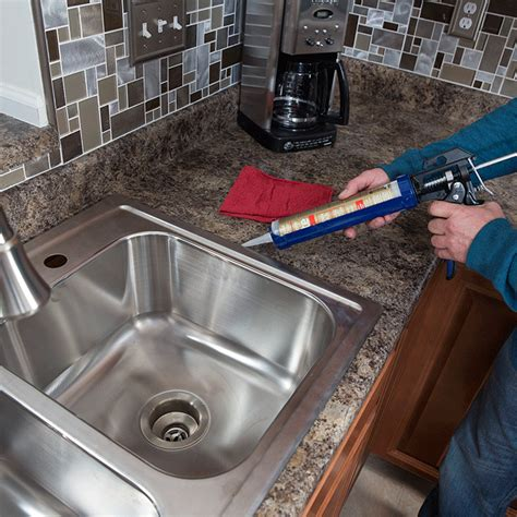 what kind of caulk for kitchen sink how to install a kitchen sink