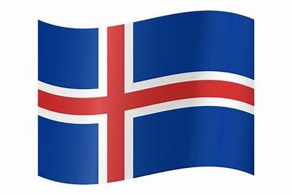 Flag Iceland Clipart Icelandic Country Flaga Islandia