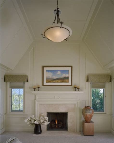 vaulted paneled ceiling   flat top living