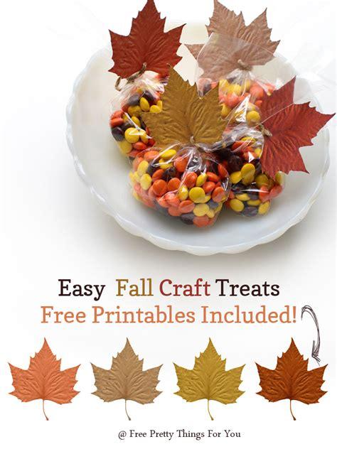 easy fall treats autumn easy fall treats leaf printables free pretty things for you