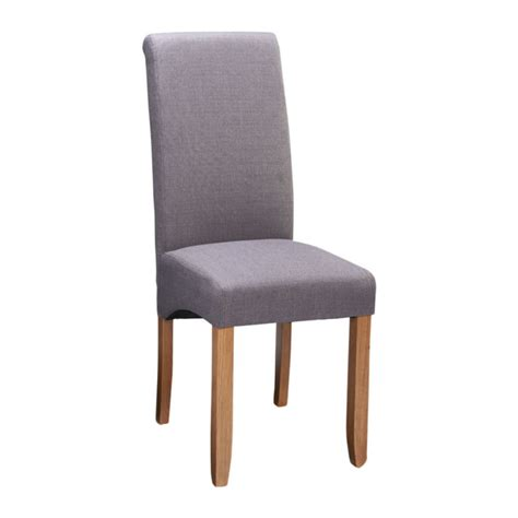 wren living riviera grey fabric scroll dining chair