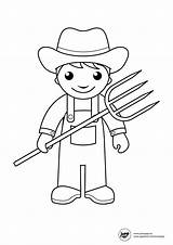 Coloring Pages Farmer Farm Animal Printable Coloringhome Community Helpers sketch template