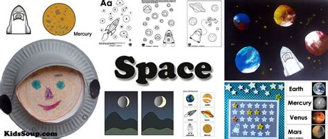 telescope craft  outer space vocabulary review kidssoup