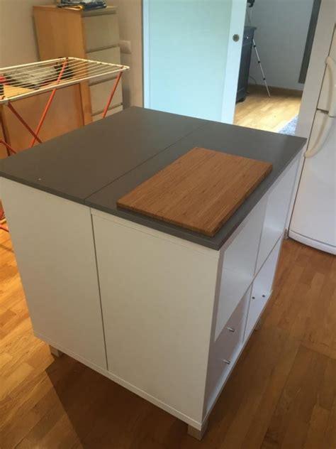 meuble ilot cuisine un nouvel ilot central cuisine avec kallax bidouilles ikea