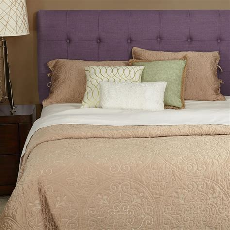 21296 purple upholstered bed humble haute saxon linen tufted upholstered