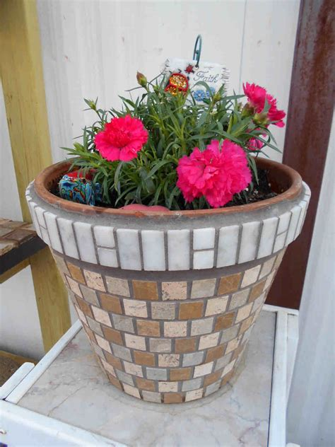 ceramic pots for white tile mosaic flower pot mosaic flower 5189