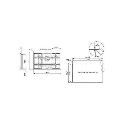 blanco piano cottura blanco 1104125 filotop 7x5 5 piano cottura a gas 75 cm