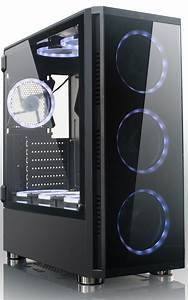 China Best Sale Atx Gaming Pc Case  Computer Case With Rgb Fan  Opened Glass Window