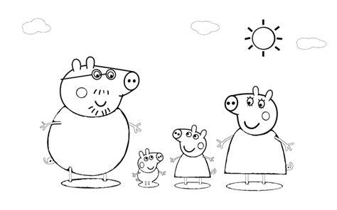 disegni on line da colorare peppa pig sta disegno di la famiglia di peppa pig da colorare