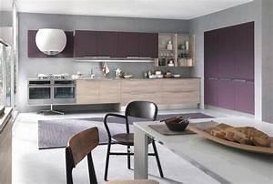 couleur pour cuisine 105 idees de peinture murale et facade With cuisine aubergine et grise