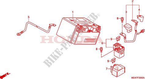 battery for honda deauville 700 abs 2006 honda motorcycles atvs genuine spare parts catalog