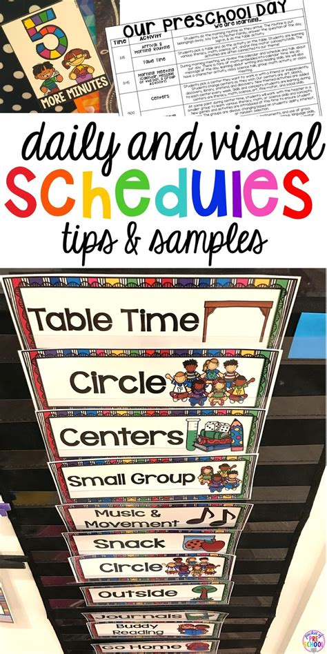 preschool daily schedule and visual schedules pocket of 711 | Slide1