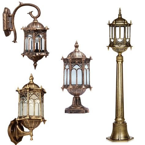 outdoor exterior lantern wall post lighting sconce hanging