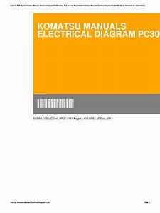 Komatsu Manuals Electrical Diagram Pc300